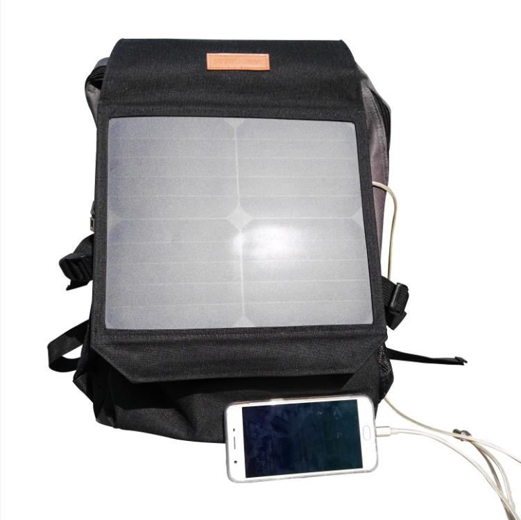 Outdoor smartphone charging 2 - 10W Solar Backpack