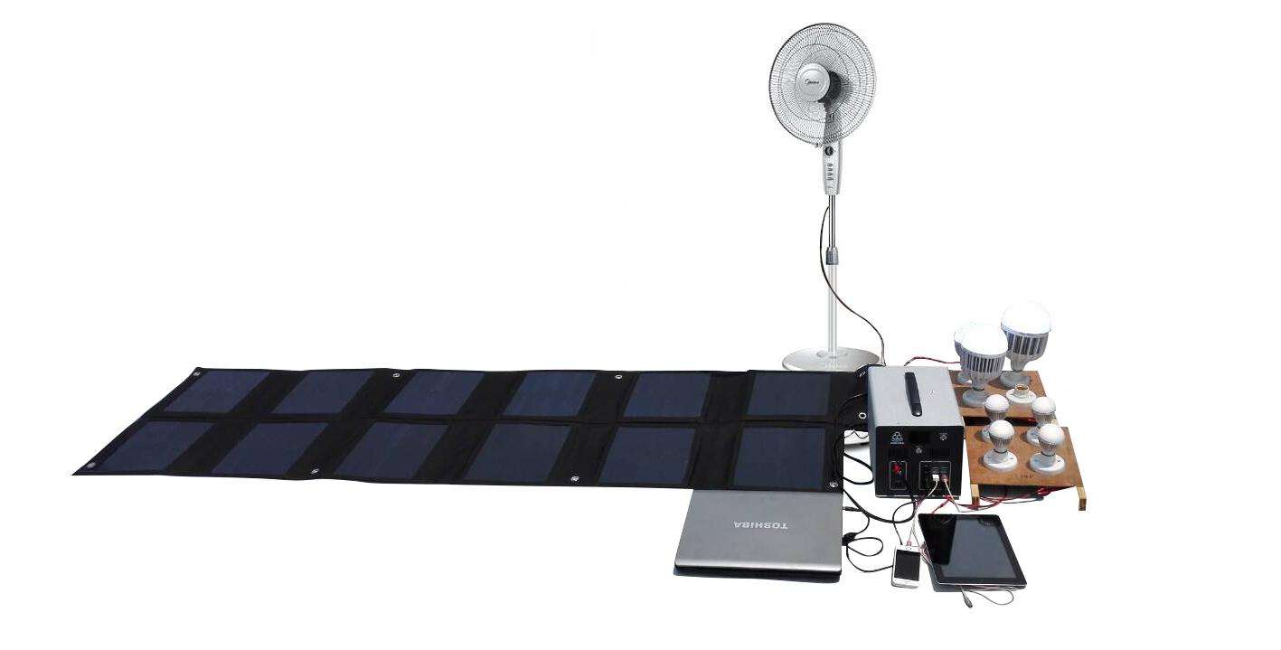 Outdoor laptop charging 4 - 300W Solar Generator